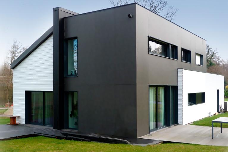 construction d 39 une maison d 39 architecte saint senoux 35 habitat durable maitre d 39 oeuvre. Black Bedroom Furniture Sets. Home Design Ideas