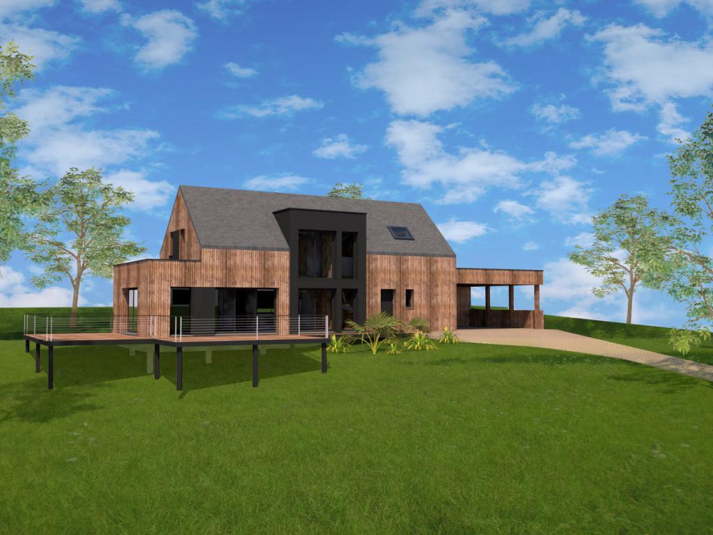 construction maison ossature bois bourg des comptes 35 habitat durable maitre d 39 oeuvre ForConstruction Bois 35